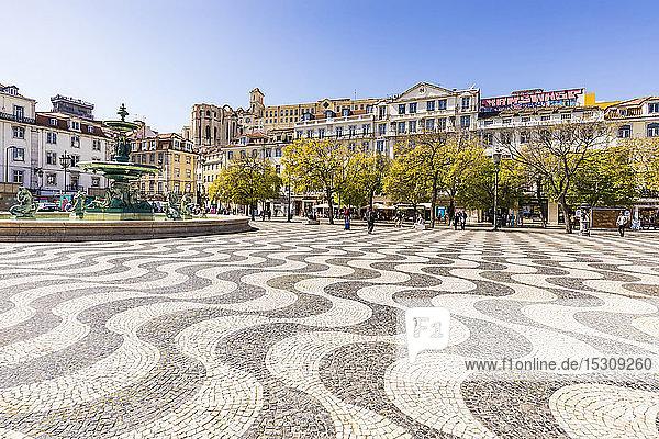 Portugal  Lissabon  Brunnen auf dem Rossio-Platz