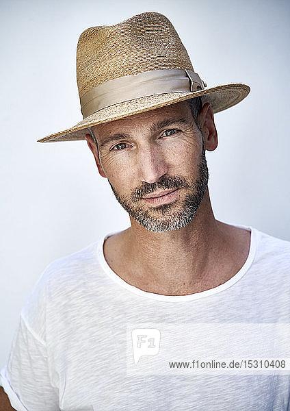Bildnis eines reifen Mannes mit Hut