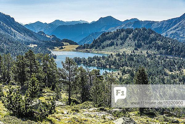 France  Hautes-Pyrenees  Haute Vallee d'Aure  Neouvielle National Nature Reserve  Aumar lake  La Hourquette d'Aubert pathway