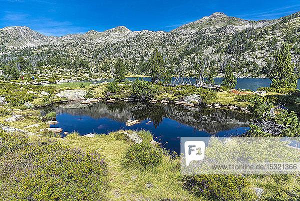 France  Hautes-Pyrenees  Haute Vallee d'Aure  Neouvielle National Nature Reserve  The Aumar lake