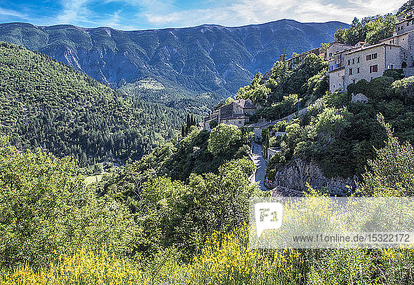 France  Vaucluse  Brantes  north face of the Mont Ventoux and Toulourenc valley