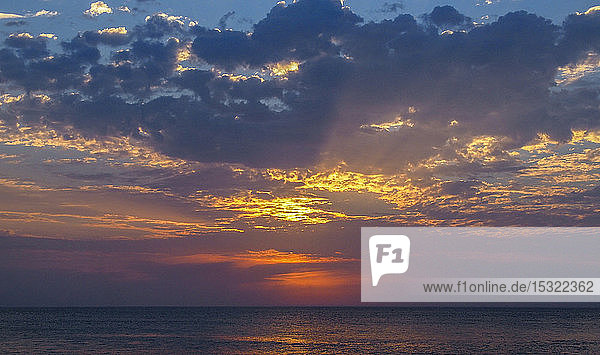 South Africa  Western Cape province  Garden Route  sunset over the Indian Ocean  Jeffreys Bay