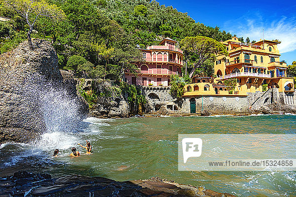Portofino  Liguria  Italy - August 11  2018 - view of luxurious houses