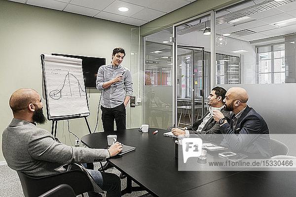 Men during business meeting Men during business meeting