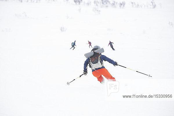 Woman skiing Woman skiing