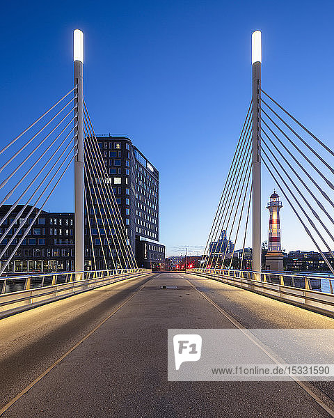 Bridge at sunset in Malmo  Sweden