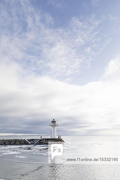 Leuchtturm am Vatternsee in Schweden