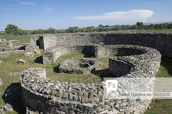 Europe  Italy  Basilicata  Italy  Basilicata  Venosa  Roman archaeological park end paleochristian ruins