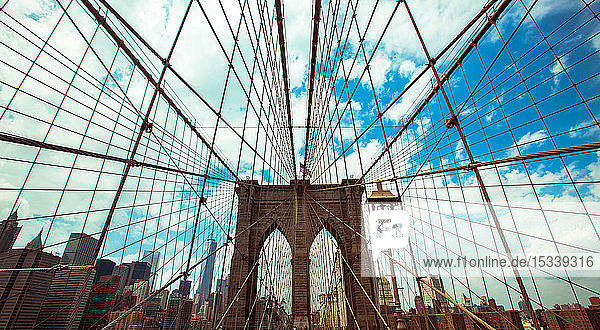 Brooklyn Bridge with Lower Manhattan