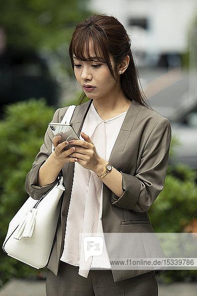 Japanese woman downtown