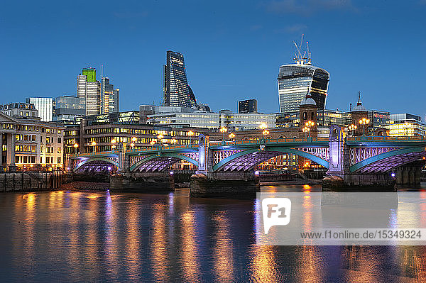 Blackfriars Bridge over the River Thames  London  England  United Kingdom  Europe