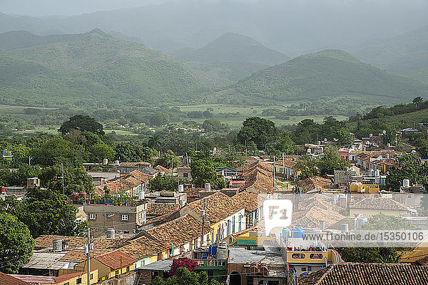 View from San Francisco de Asis of Trinidad  Cuba  West Indies  Caribbean  Central America