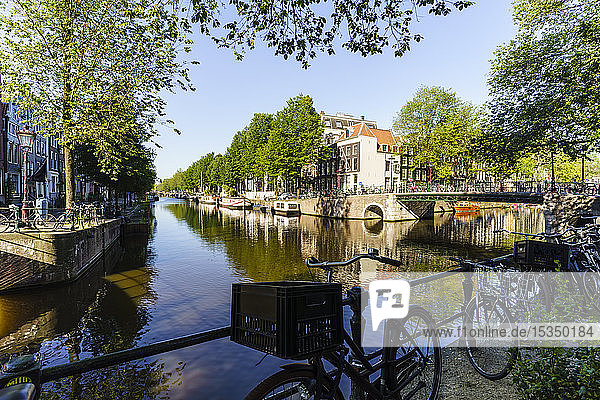 Herengracht Canal  Amsterdam  North Holland  The Netherlands  Europe
