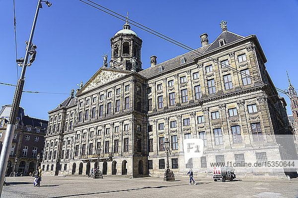 Royal Palace  Dam Square  Amsterdam  North Holland  The Netherlands  Europe