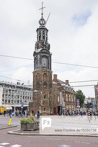 Munttoren (Munt Tower)  Muntplein  Amsterdam  North Holland  The Netherlands  Europe