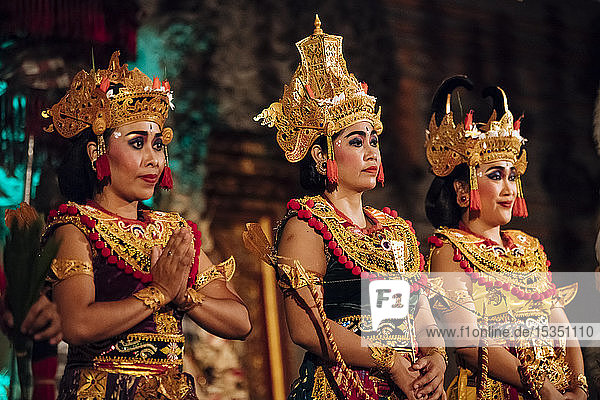 Traditional Balinese Dance Performance  Ubud  Bali  Indonesia  Southeast Asia  Asia