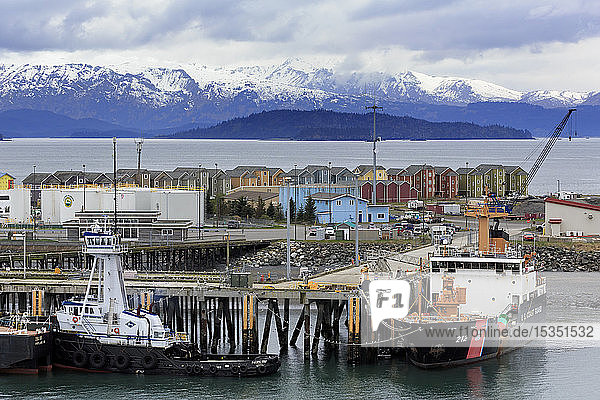 Coast Guard Station  Homer Spit  Alaska  United States of America  North America