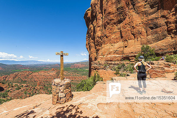 The Saddle of Cathedral Rock  Sedona  Arizona  United States of America  North America
