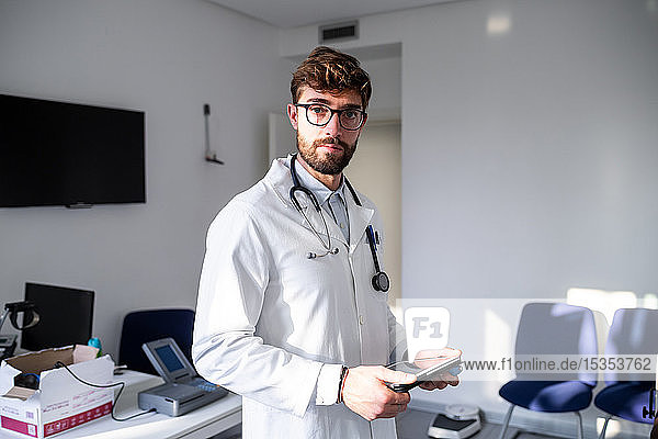 Doctor in consultation room