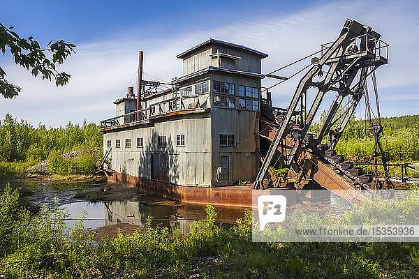 Coal Creek Gold Dredge relic in the Yukon–Charley Rivers National Preserve; Alaska  United States of America
