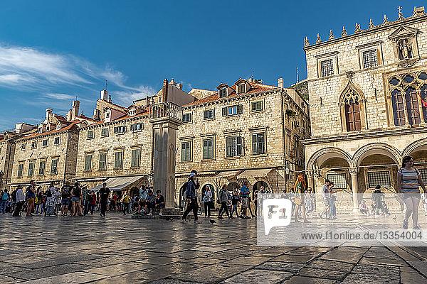Stradun or main street; Dubrovnik  Dubrovnik-Neretva County  Croatia