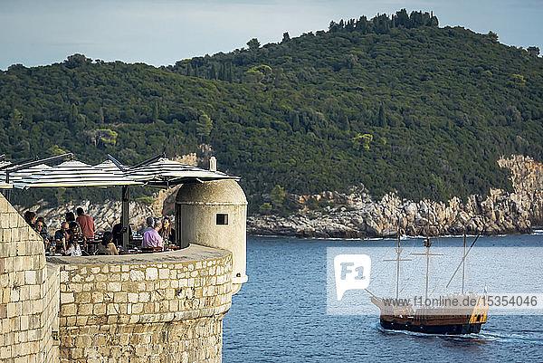 Bar on a turret in the City Walls; Dubrovnik  Dubrovnik-Neretva County  Croatia