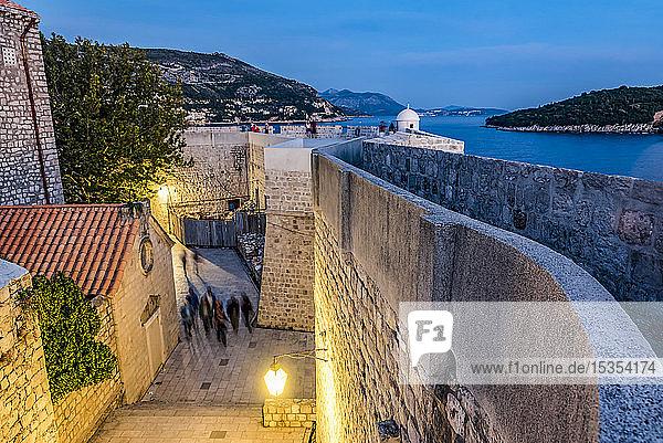 Street inside the City Walls; Dubrovnik  Dubrovnik-Neretva County  Croatia