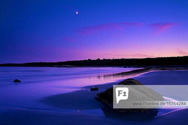 Evening Twilight At Sandy Bay Beach  Port Joli Harbour  Nova Scotia