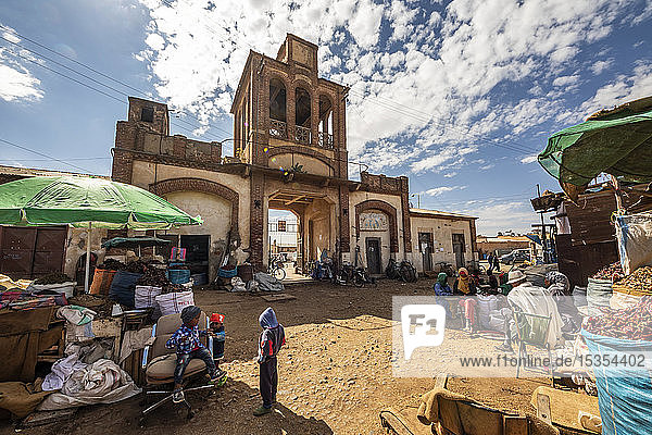 Gate of the Medeber Market  built circa 1912; Asmara  Central Region  Eritrea