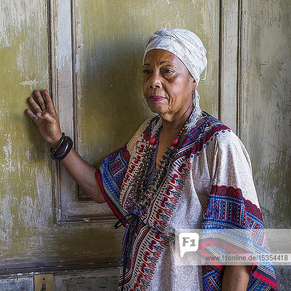 Portrait of a Cuban woman; Havana  Cuba