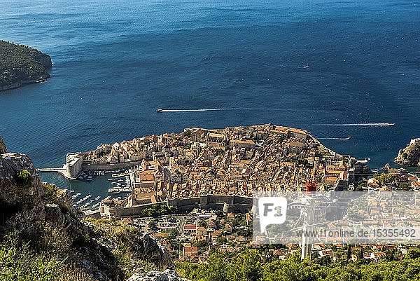 View of the Old City of Dubrovnik; Dubrovnik-Neretva County  Croatia