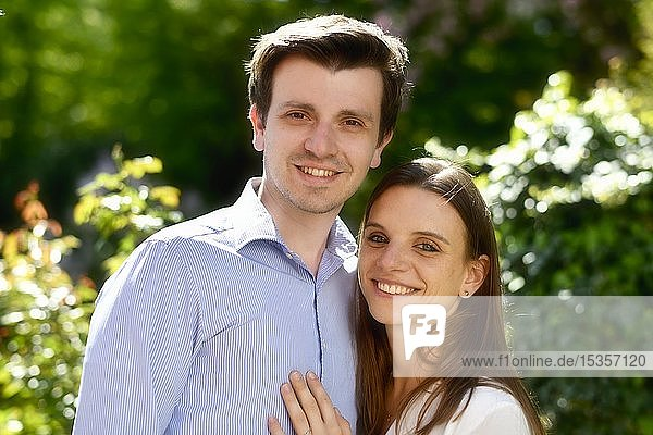 Young happy couple  Baden-Württemberg  Germany  Europe
