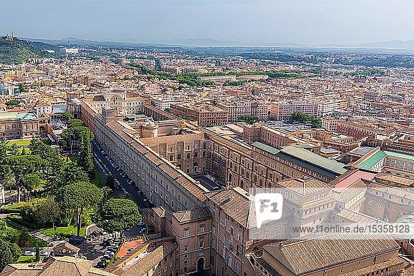 Vatikanische Museen von oben  Vatikanstadt  Rom  Latium  Italien  Europa