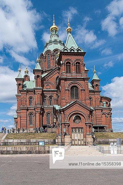 Orthodoxe Uspenski-Kathedrale  Backsteinbau  Helsinki  Finnland  Europa