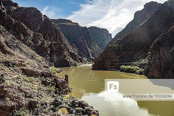 Colorado River  Canyon Landscape  Grand Canyon National Park  Arizona  USA  North America