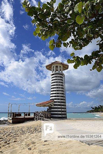 Leuchtturm  Bar vom Hotel Iberostar Hacienda Dominicus  Strand Dominicus  Bayahibe  Dominikanische Republik  Karibik  Amerika  Mittelamerika