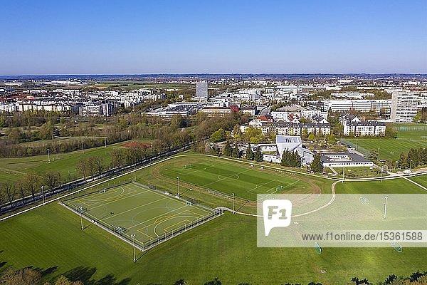 Sportanlage Süd  Stadtteile Spickel-Herrenbach und Hochfeld  Augsburg  Drohnenaufnahme  Schwaben  Bayern  Deutschland  Europa