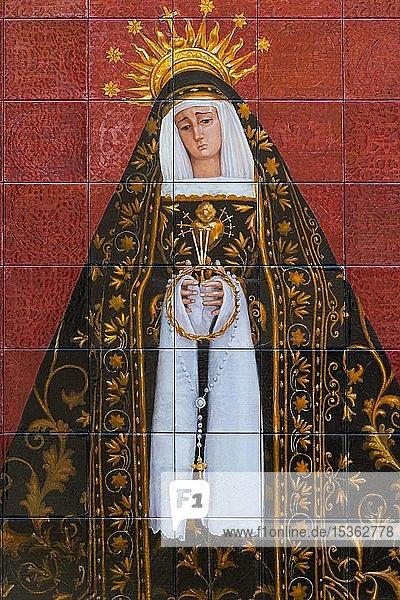Maria  Mater Dolorosa  Kachelbild  Almería  Andalusien  Spanien  Europa