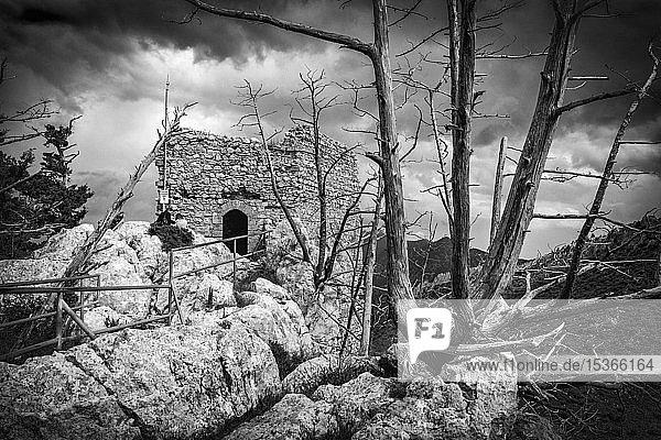 Burgruine St.Hilarion  Girne  Bezirk Kyrenia  Türkische Republik Nordzypern  Zypern  Europa