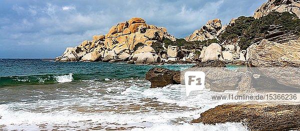 Granitfelsenküste  Santa Teresa di Gallura  Capo Testa  Sardinien  Italien  Europa