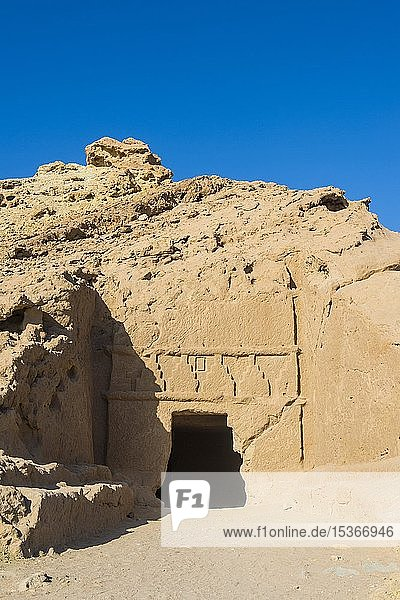 Nabatäische Siedlung Al Bidaya Nabatäischer Friedhof  Provinz Tabuk  Saudi-Arabien  Asien
