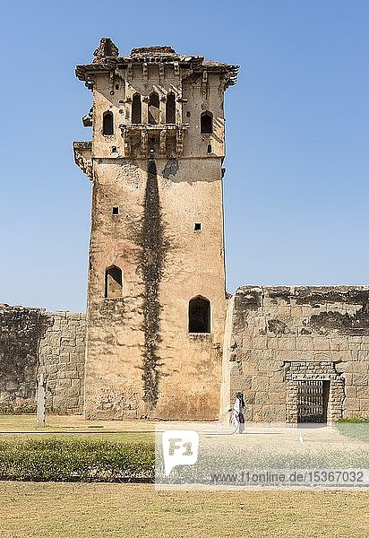 Wachturm in der Zenana-Anlage  Hampi  Indien  Asien
