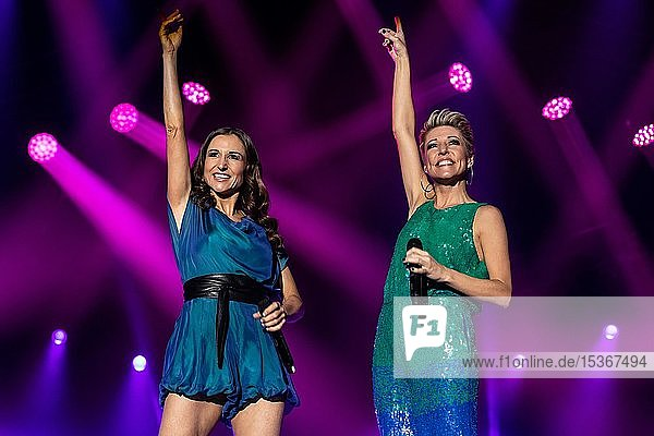 The German Schlager Duo Anita and Alexandra Hofmann live at the 19th Schlager Night in Lucerne  Switzerland  Europe