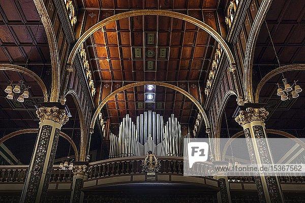 Innenansicht  Orgelempore  Kathedrale in Cartago  Basilika Nuestra Señora de los Ángeles  Cartago  Provinz Cartago  Costa Rica  Mittelamerika