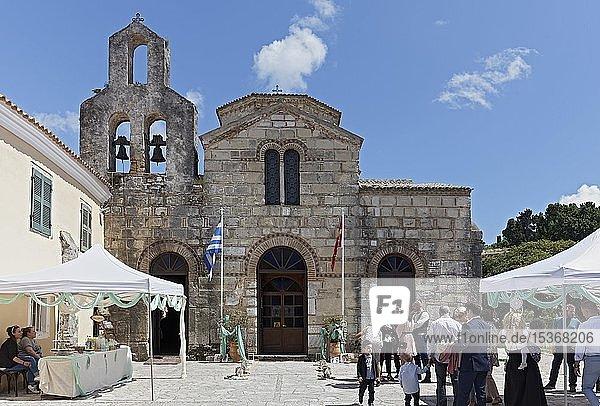 Griechisch-orthodoxe Kirche von Jason und Sossipatros  byzantinischer Baustil  Korfu-Stadt  Insel Korfu  Ionische Inseln  Griechenland  Europa