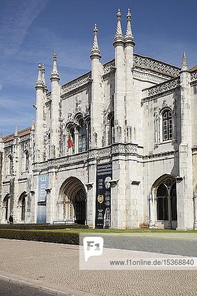 Archäologisches Museum  Mosteiro dos Jerónimos  Hieronymuskloster  UNESCO-Weltkulturerbe  Belém  Lissabon  Portugal  Europa