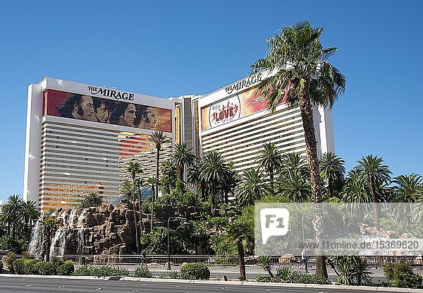 Casino und Luxushotel The Mirage  Las Vegas Strip  Las Vegas  Nevada  USA  Nordamerika
