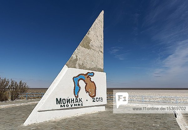 Aralsee Denkmal in Moynak  Moynaq  Usbekistan  Asien