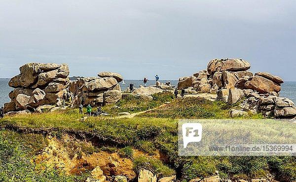 Ploumanach  giant rocks at the Côte de Granit Rose  Cotes-d'Armor department  Bretagne  France  Europe