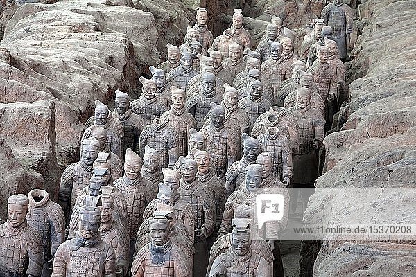 Frühchinesische Grabanlage  Terrakotta-Armee  Mausoleum Qin Shihuangdis  Xi'an  Provinz Shaanxi  China  Asien